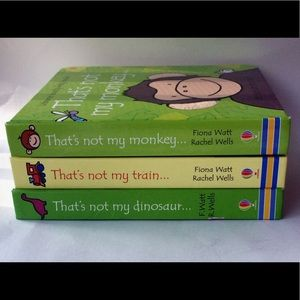 """Baby's book BUNDLE of 3 """"That's not my monkey""""."""